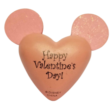 Mickey Happy Valentine's Day Be Mine Car Antenna Topper / Desktop Bobble Buddy (Pink Ears)