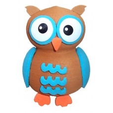 Tenna Tops Blue Owl Antenna Topper / Desktop Spring Stand
