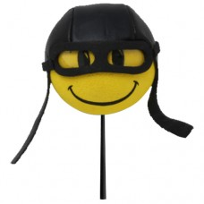 HappyBalls Biker / Pilot Car Antenna Topper / Desktop Bobble Buddy