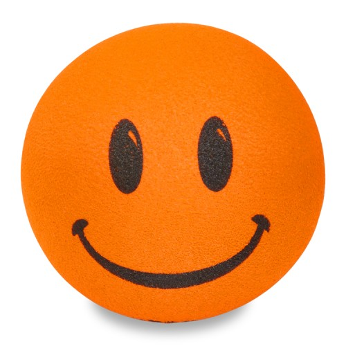 Thick Fat Style Antenna - Orange Smiley Antenna Topper