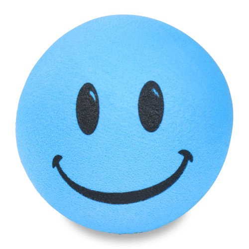 Thick Fat style Antenna - Blue Smiley Antenna Topper