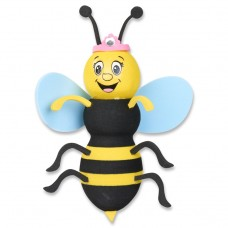 Tenna Tops Queen Bumble Bee (Blue Wings) Car Antenna Topper