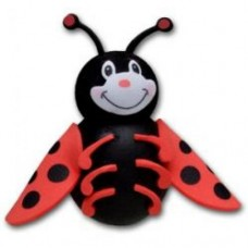 Tenna Tops - For Thick Fat Style Antenna - Ladybug Car Antenna Topper & Mirror Dangler