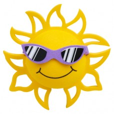 Coolballs (Fat Style Antenna) California Sunshine w/ Sunglasses Antenna Topper / Desktop Bobble Buddy (Purple)