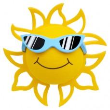 Coolballs California Sunshine w/ Sunglasses Antenna Topper / Desktop Bobble Buddy (Blue)