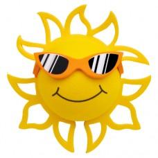 Coolballs California Sunshine w/ Sunglasses Antenna Topper / Desktop Bobble Buddy (Orange)