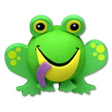 Tenna Tops Cute Green Frog Antenna Topper & Mirror Dangler