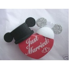 Mickey Mouse Minnie Mouse Just Married Antenna Topper