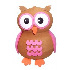 Tenna Tops Pink Owl Antenna Topper / Desktop Bobble Buddy