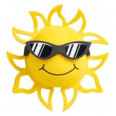 Coolballs (Fat Style Antenna) California Sunshine w/ Sunglasses Antenna Topper / Desktop Bobble Buddy (Black&White)