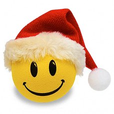 HappyBalls (Fat Style Antenna) Happy Santa w Red Hat Antenna Topper / Desktop Bobble Buddy