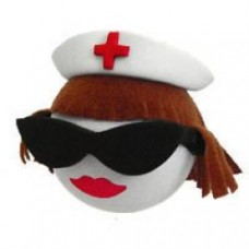 Cool Brunette Nurse Antenna Ball / Antenna Topper