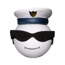 *Sale* Coolballs Cool Naval Captain Antenna Topper - White / Blue Cap