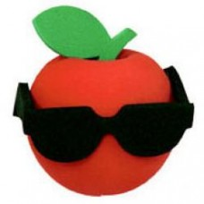 Cool Apple with Sunglasses Antenna Topper