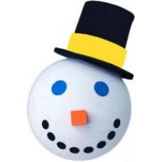2005 Jack in the Box Snowman Antenna Topper / Desktop Bobble Buddy