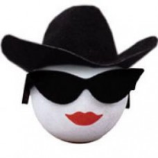 Coolballs Cool Cowgirl w Sunglasses Antenna Topper / Desktop Bobble Buddy