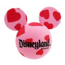 Mickey Mouse (Hearts) Antenna Ball / Desktop Spring Stand (Disneyland Resort)