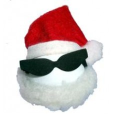 Coolballs Santa w Sunglasses Car Antenna Topper / Desktop Bobble Buddy