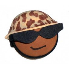 *Last One* Coolballs U.S. Marine Helmet Antenna Ball (Brown) / Desktop Bobble Buddy