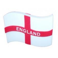Rare England Waving Flag Antenna Topper / Desktop Spring Bobble Stand