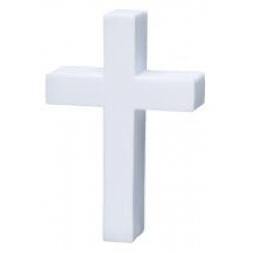 White Cross Antenna Topper
