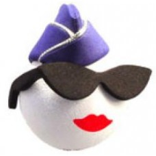 Coolballs Air Force Lady Antenna Topper / Desktop Spring Stand Bobble