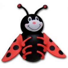 Tenna Tops Cute Ladybug Car Antenna Topper / Desktop Spring Stand
