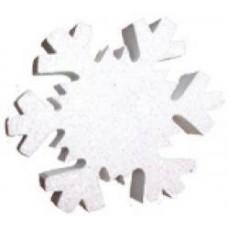 Snowflake (White Sparkles) Antenna Topper