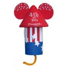 DIsney Mickey Mouse 4th of July Fireworks Firecracker Antenna Topper (Disneyland Resort) / Desktop Spring Stand