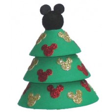*Last One* Disney Christmas Tree Antenna Topper (Black Mickey Hat On Top)