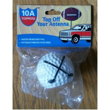 High Quality Golf Ball Antenna Topper / Desktop Spring Stand Bobble