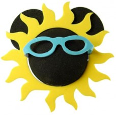 Disney California Adventure Mickey SUN with Blue Sunglasses Sunshine Antenna Topper