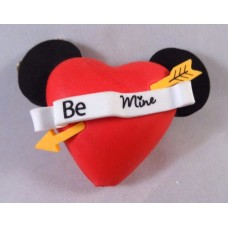 Mickey Mouse Valentine's Day BE MINE Heart Antenna Topper / Desktop Bobble Buddy (Disneyland resort)