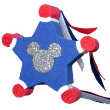 Disney July 4th Patriotic Star With Streamers Antenna Topper