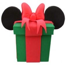 *Last one* Rare Mickey Mouse Christmas Gift Antenna Topper / Desktop Bobble Buddy