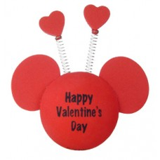 *Last One* Mickey Valentine's Day (Springs w Hearts) Disney Antenna Topper
