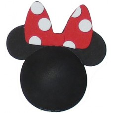 Minnie Mouse Polka Dots ~ Red Bow White Dots Antenna Topper (Plain Black)
