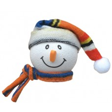 Snowman Antenna Topper (Orange) Hat & Scarf