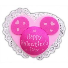 *Last one* Mickey & Minnie Lace Happy Valentine's Day Antenna Topper / Desktop Bobble Buddy