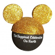 *Last one* Mickey Mouse Glitter Gold Ears Gold Hat Antenna Topper - Plain - Happiest Celebration On Earth