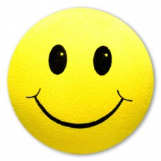 Yellow Smiley Face Antenna Topper