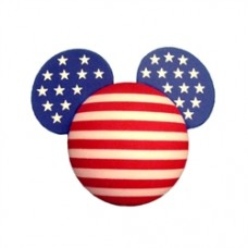 *Last One* Mickey Mouse American Flag (Stars & Stripes) Antenna Ball Antenna Topper