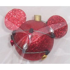 *Last one* Mickey Mouse Red Glitter Christmas Lights Antenna Topper - Disney