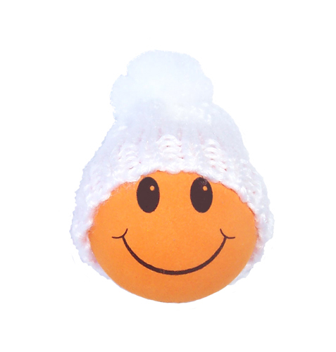 Winter Hat Orange Smiley FaceWinter Smiley Face